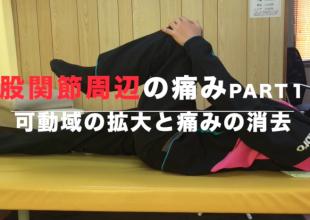 『股関節周辺の痛み①(可動域の拡大と痛みの消去)』